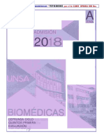 2018 1er Examen Ceprunsa Área Biomédicas