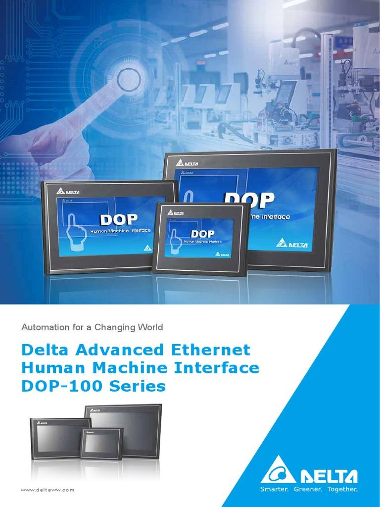 Delta Ia-hmi-dop100 en 20180207 Web   Thin Film Transistor
