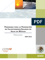 Sp Programa de ores Solares de Agua Mexico
