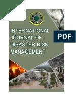 Flyer International Journal of Disaster Risk Management