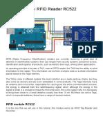 Tutorial Module RFID Reader RC522