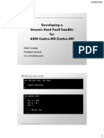 Developing a Generic Hard Fault Handler for ARM Cortex M3/M4