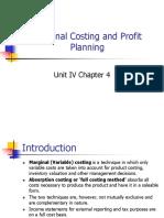 Marginal Costing Notes