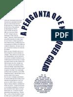 Red. Jorn. - A PERGUNTA QUE NÃO QUER CALAR (matéria sobre mendigos - 18-10-2010)