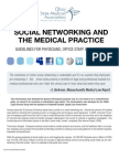Ohio State Medical Association (OSMA) Legal Services Group Social Networking Guidelines for Physicians, Office Staff and Patients