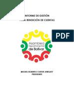 Informe de Gestión Asamblea 2018