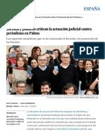 Caso Cursach_ Juristas y Políticos Critican La Actuación Judicial Contra Periodistas en Palma _ España _ EL PAÍS