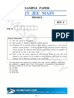 Jee Main 2019 Physics Sample Question Paper II