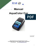 Manual AquaColor Cor Versão 3.26B 07-2016
