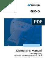 Manual Gps GR 3 Español