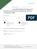 Relación Entre El Modelo Híbrido de Las Funciones Ejecutivas y El Trastorno Por Deficit de Atencion Con Hiperactividad