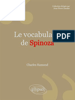 Charles Ramond Le Vocabulaire de Spinoza 1