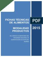 Fichas Técnicas de Productos