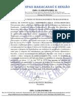 EDITAL DE CONVOCAÇÃO DOS TRABALHADORES