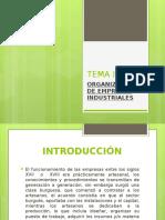 Tema i Organización de Empresas Industriales