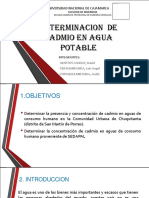 Determinacion de Cadmio en Agua Potable Ppt