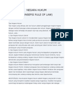 Negara Hukum Rule of Law