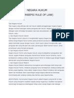 Negara Hukum Rule of Law