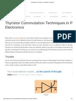 Classification of Thyristor Commutation Techniques