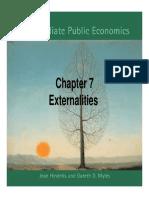 Externalities Hindriks Myles Ch7 Slides
