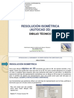 AUTOCAD RESOLUCION ISOMETRICA