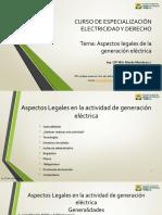 Aspectos Legales de La Generación Eléctrica