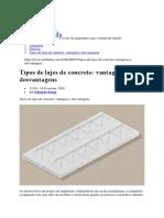 ArchDaily VAntagens e Desvantagem Da Laje de Concreto