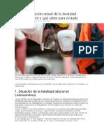 Así Está Situación Actual de La Fatalidad Laboral en Perú y Qué Saber Para Evitarlo
