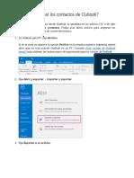 Cómo Exportar Los Contactos de Outlook