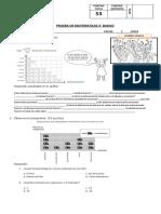 Evaluacion de matematica 3° BASICO
