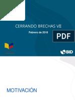 Cerrando Brechas Vii - Presentacion 20-02-2018