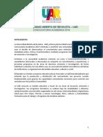 UAR Convocatoria Academica 2019