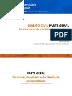 04 CIVIL PARTE GERAL - Do Nome c Estado e Personalidade