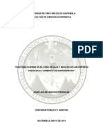 Auditoria Interna Del Área de Caja y Bancos de Una Empresa Agroquimica