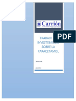 Trabajo de Investigación Sobre La Paracetamol
