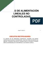 (3)Fuentes de Alimentación Lineales No Controladas