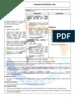 Requisitos Personal Civil DCAM