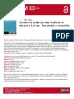 Comunita Dialettofone Italiane in America Latina (2)