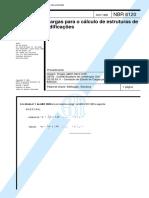 NBR 6120 - 1998 - Cargas Para o Cálculo de Estruturas de Edificações