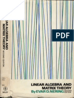 Nering LinearAlgebraAndMatrixTheory Text