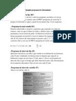 Ejemplos Programas de Reforzamiento