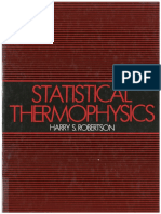 Statistical Thermophysics, Robertson
