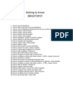 Brightspot Training Manual