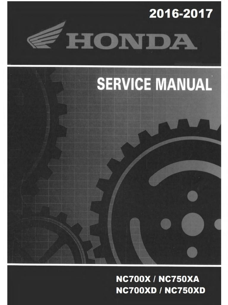 NC750 service manual | Motor Oil | Piston