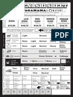 Ramen Nagi Order Sheet