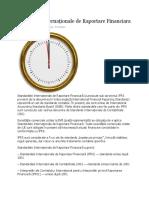 Standarde Internaționale de Raportare Financiara