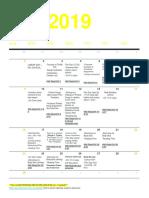 methods calendar
