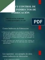 Costeo y Control de Costos Indirectos de Fabricaciòn