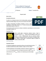 Azufre Descripcion de Elemento Propiedades Fisicas y Quimicas