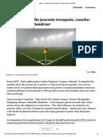 Ligue 1- nouvelle journée tronquée